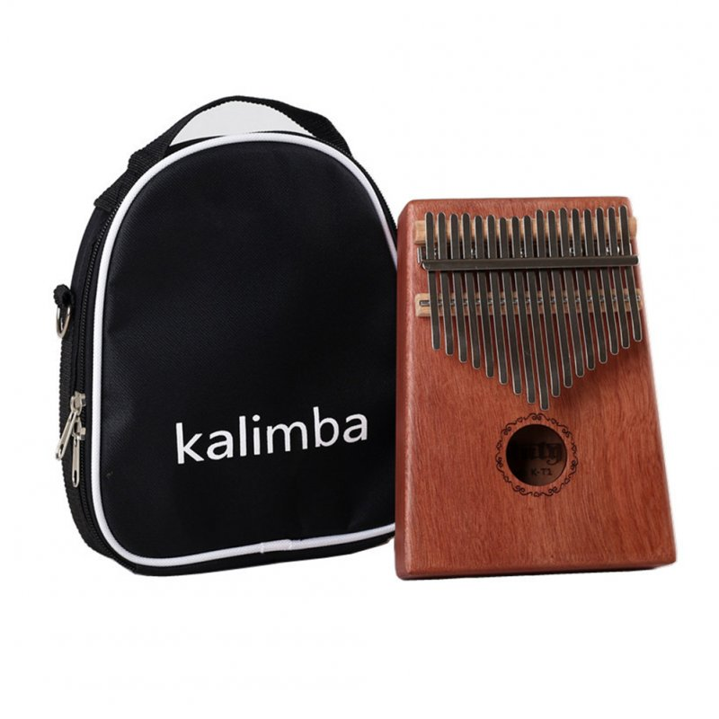17 Keys Kalimba Mbira Calimba African Thumb Piano Finger Percussion Mahogany