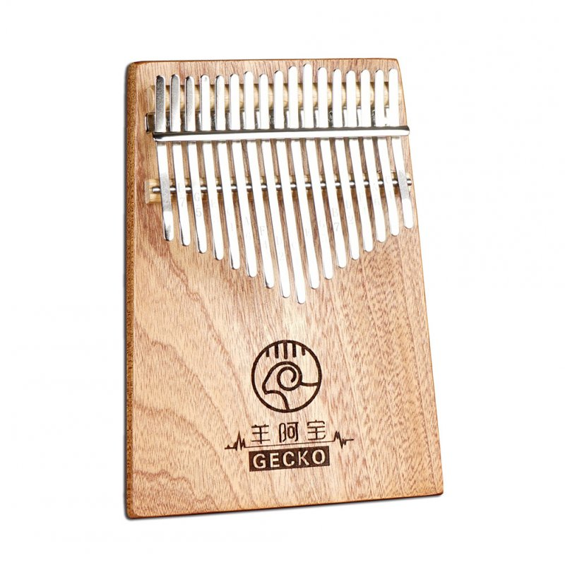 17 Keys Kalimba Thumb Piano Mahogany Wooden in C Music Instrument Toy Gift Wood color