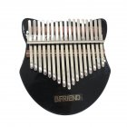 17-key Acrylic Kalimba Fox-shape Thumb Piano with Tuning Hammer black