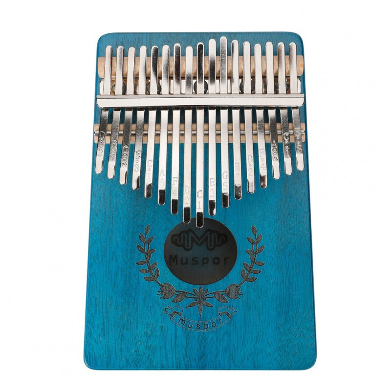 17-keys Mahogany Kalimba Finger Thumb Piano Mbira Garland Style Thumb Piano blue
