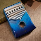 17-tone Kalimba Mahogany Core Thumb Piano with Tuning Hammer Gradient blue_Zani Helios