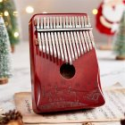 17-tone Kalimba Mahogany Core Christmas Thumb Piano with Tuning Hammer Zani bright