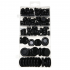 170Pcs Black Rubber Grommet Firewall Hole Plug Retaining Ring Set Car Electrical Wire Gasket Kit for Cylinder Valve Water Pipe 170pc set