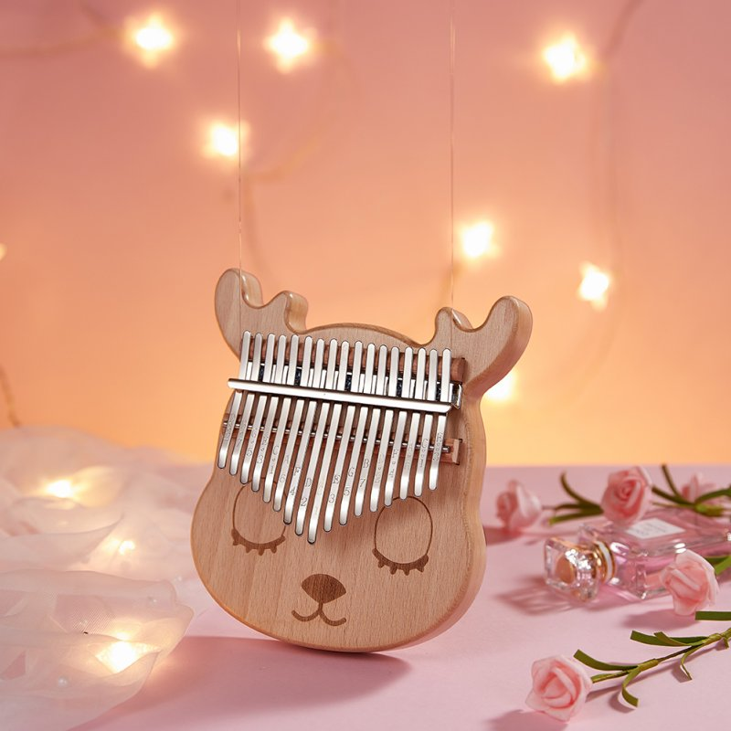 17key Kalimba Musical Instrument Home Transparent Acrylic Kalimba Birthday Gift Thumb Piano Ash_17 keys