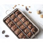 18 Cavity Brownie Baking Tray Cake Mold Thickened Square Bread Baking Pan As shown