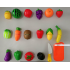 18 PCs Kitchen Pretend Cutting Fruit Playset Fruit And Vegetable Cutting Toys
