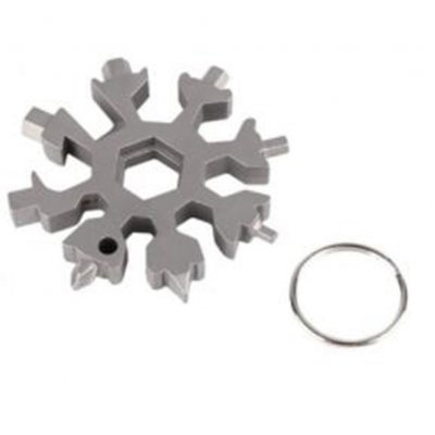 18-in-1 Stainless Steel Snowflake Hex Screw Wrench set Outdoor Tools Camp Survival Outdoor Hiking Key Ring