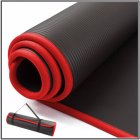 183cmX61cm Overlay Non-slip Yoga Mat 10MM Fitness Mat black_10mm