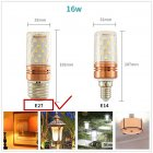 185 265V LED Tricolor Changing Corn Light Bulb Chandelier Lamp Decoration E27
