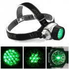 19 LED High Intensity Green Head Light Hydroponics Horticulture Grow Room Headlamp plastic