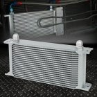 19-ROW 10AN Powder-coated Aluminum Engine/transmis Sion Racing Oil Cooler Silver