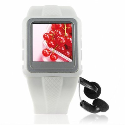 Original Watch MP4 Player 1GB White - 1.5-inch OLED Screen