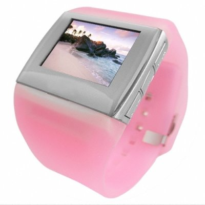 1.5 Inch OLED Watch MP4 Player 1GB - Ladies Pink Quality Strap