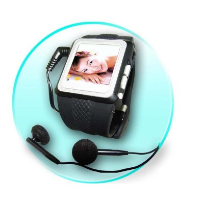 Watch MP4 Player 256MB, 1.5-inch OLED Screen