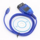 1M VAG COM KKL 409.1 OBD2 K-Line KWP2000 ISO9141 USB Cable FOR VW AUDI SKODA blue