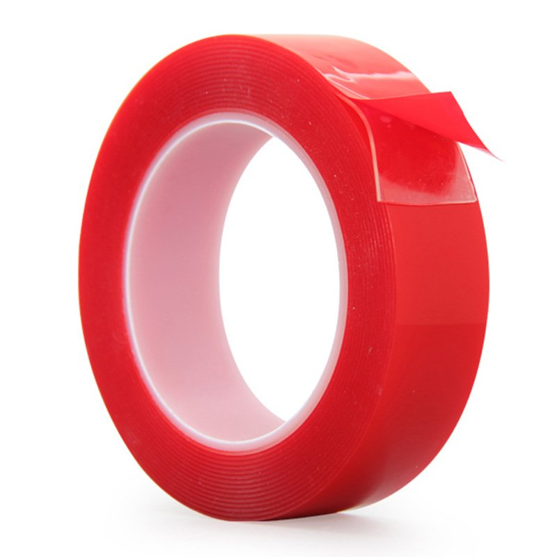 1MM Thickness Red Film Acrylic Double-sided Transparent Tape 3M Long