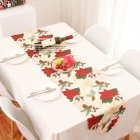 1PC 178x35cm Christmas Series Printing Table Runner for Home Party Decoration B