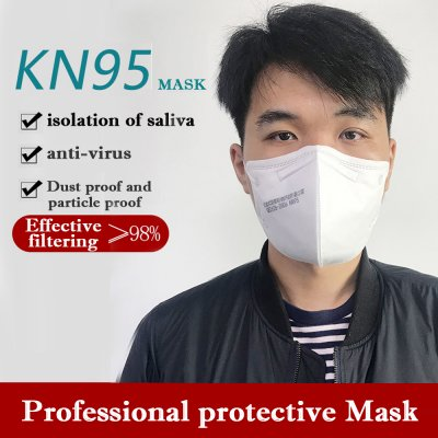 1PC/3PCs/5PCs/10PCs Disposable Mask KN95 Folding Safety Respirator To Prevent Haze Dust white_1PCS