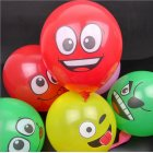 1PC/5PCS 12 Inch Multicolor Cartoon Face Expression Latex Party Balloons Random Color