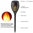 1PC 96LEDs Outdoor Solar Power Flame Lamp for Garden Lawn Lighting Warm white light