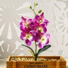 1PC Artificial Phalaenopsis Flower Home Decoration DIY Supplies Accessories Purple JH1409