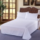1PC Cotton Bedding Solid Color White Bed Sheet for Home Hotel Supplies white