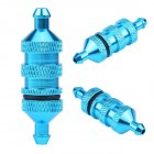 1PC HSP RC Oil Fuel Filter Alloy Aluminum Oil Nitro Fuel Filter for 1/8 1/10 Scale RC Model Car Upgrade Parts blue
