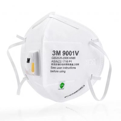 1Pc 9001 Protective Mask with Nose Clip