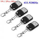 1Pc   2Pcs  4Pcs Universal Cloning Remote Control Key Fob for Car Garage Door Electric Gate