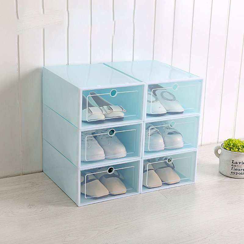 1Pc Multifunction Unisex Transparent Shoes Storage Box with Cover