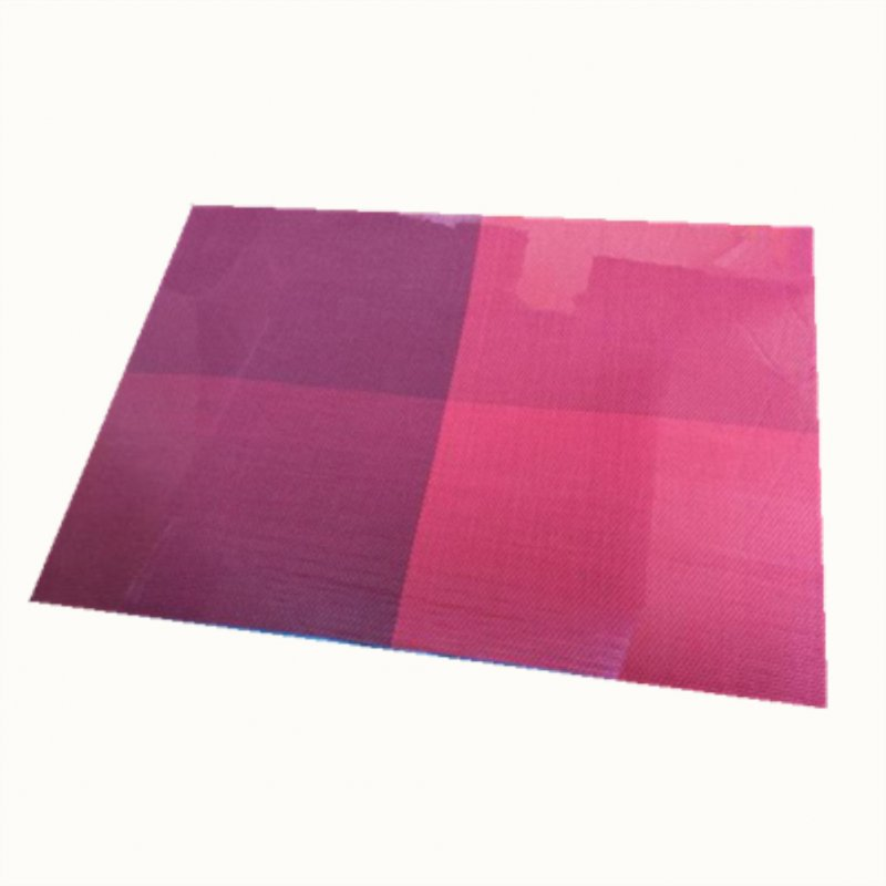 1Pc Waterproof Rectangular Placemat with Antiskid Texture for Table Decor