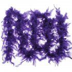 1Pcs 37g 2yards Turkey Feather Strip Wedding Marabou Feather Boa Burlesque Fancy Dress Party Decoration Dark purple