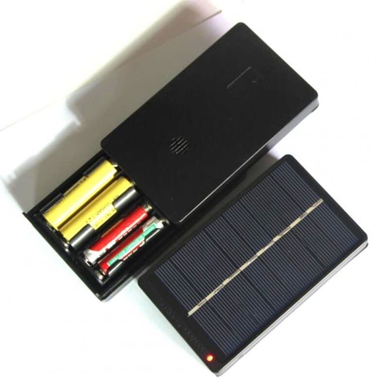 1W 4V Solar Panel Mini Solar System Charger for  2*AA/AAA 1.2V Battery Charger 4V