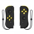 1pair Wireless Bluetooth Game Handle Joy Cons Gaming Controller Gamepad For Nintend Switch NS Joycon Console with Wrist Strap Black gold