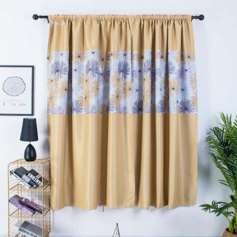 1pc Modern Shading Curtains with Chrysanthemum Pattern Kids Thick Curtain for Living Room Bedroom Kitchen Window yellow_1m wide x 2m high pole