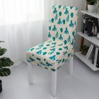 1pc Simple Stretch Chair Cover Home Half Pack Printed Chair Cover Nordic cactus_One size