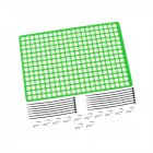 1pc Window Net Rubber Luggage Net Window Decoration for 1/10 RC Car SCX10 90046 Wraith D90 TRX4 Green