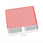 1pc Window Net Rubber Luggage Net Window Decoration for 1/10 RC Car SCX10 90046 Wraith D90 TRX4 Red