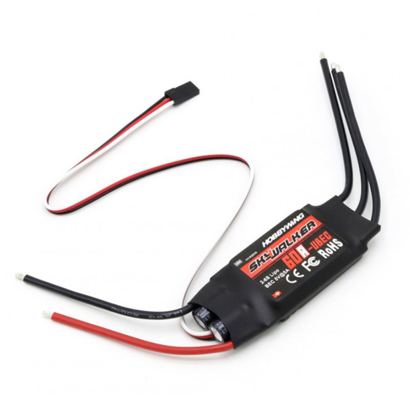 1pcs Hobbywing Skywalker 12A 20A 30A 40A 50A 60A 80A ESC Speed Controler With UBEC For RC FPV Quadcopter RC Airplanes Helicopter 60A