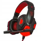 2.2M PC780 Gaming Headsets with Light Mic Stereo Earphones Deep Bass for PC Computer Gamer Laptop Black red does not shine