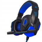 2 2M PC780 Gaming Headsets with Light Mic Stereo Earphones Deep Bass for PC Computer Gamer Laptop Black and blue do not shine