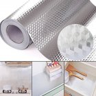 2 3 5M Aluminum Foil Self Adhesive Waterproof High Temperature Resistance Kitchen Stickers for Stove Cabinet Diamond 40 cm   3 m