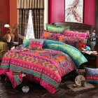 2/3Pcs Bohemian Style Printing Duvet Cover Pillowcase Bedding Set  Azoila imbricata