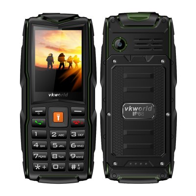 Green Quad Band cell phone