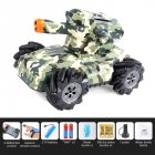 2.4G Drift Truck 360Degree Rotation Music Light Toy Double Remote Control  RQ2085 camouflage blue