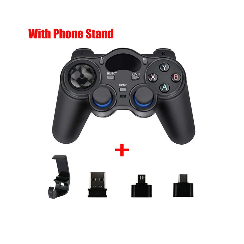 2.4G Gamepad Joystick Wireless Controller for PS3 Android Smart Phone TV Box Laptop Tablet PC black