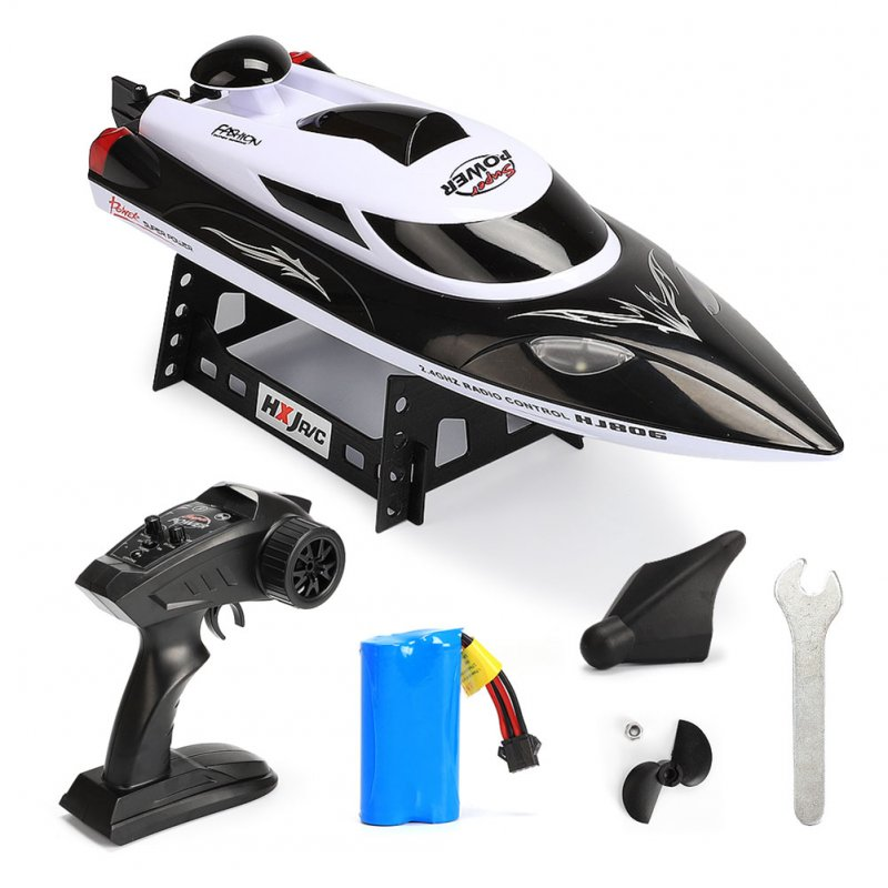 2.4G High Speed Reaches 35km/h Boat Fast Ship with Remote Control and Cooling Water System black