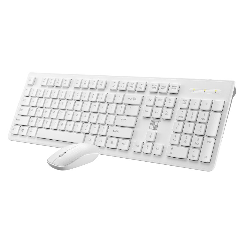 2.4G LX710 Wireless Keyboard + Mouse  for Desktop Computer Notebook white