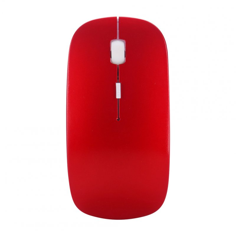 2.4G Mini Portable Laptop Computer Wireless Four-way Roller Game Mouse Bluetooth Office Business Mouse red_2.4G wireless