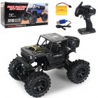 2.4G Remote Control Wireless Electric Quattro 1:14 Alloy Off-road Rock Crawler Children Toy with Light black_1:14